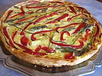 Cuisine diététique : Tarte aux asperges poivron et jambon