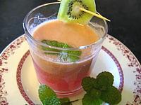 Image : Verre de thé aux fruits