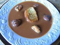 soupes de poissons et crustacés : Assiette de poisson aux châtaignes