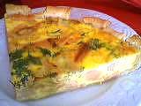 entrée à base de poisson : Part de tarte au saumon