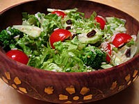 entrée à base de riz : Salade de batavia et riz