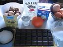 Ingrédients pour la recette : Mousse au chocolat aux noix de coco