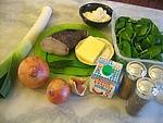 Ingrédients pour la recette : Velouté d'épinards et lotte