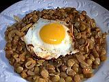 Image : Assiette de lentilles aux oignons