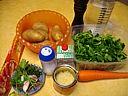 Ingrédients pour la recette : Velouté de mâche