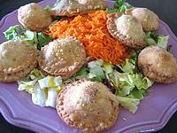 foie volaille : Assiette de rissoles au foies de volaille