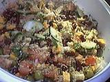 Image : recette Salade au quinoa et aux fromages