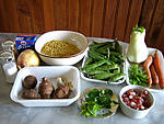 Ingrédients pour la recette : Topinambours et coquillettes