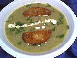 Carcasse de canard : Assiette de velouté de batavia