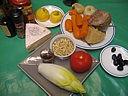Ingrédients pour la recette : Restes de langue en salade