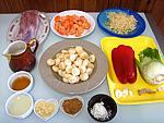 Ingrédients pour la recette : Sauté de porc aux châtaignes d'eau