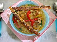 Soupe de lentilles aux crozets