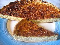 chou blanc : Assiette de tarte au chou et au mascarpone