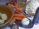 Ingrédients pour la recette : Poulet au chou
