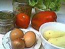 Ingrédients pour la recette : Salade jardin