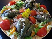 artichaut : Assiette de salade d'artichauts en vinaigrette