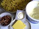 Ingrédients pour la recette : Pâtes papillons aux petits suisses