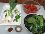 Ingrédients pour la recette : Velouté d'épinards aux tomates