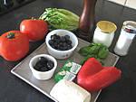 Ingrédients pour la recette : Tomates farcies aux fromages