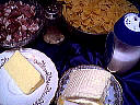 Ingrédients pour la recette : Pâtes à la brousse