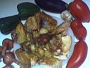 Ingrédients pour la recette : Restes de poulet