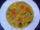 Recette Assiette de potage au maïs