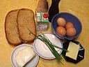 Ingrédients pour la recette : Oeufs brouillés à la mozzarella