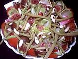 radis : Plat de salade d'endives et jambon