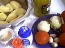 Ingrédients pour la recette : Tian de pommes de terre et tomates
