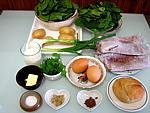 Ingrédients pour la recette : Terrine de veau aux épinards