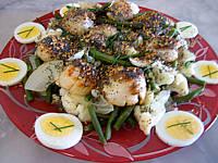 Recette Salade de noix de saint-Jacques