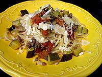Image : Assiette se spaghettis aux courgettes