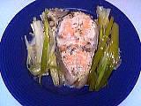 Cuisson en papillote : assiette de saumon en papillotes