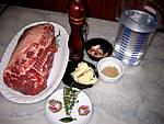 Ingrédients pour la recette : Rôti de porc à l'ail