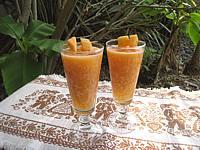 pineau des charentes : Verres de cocktail de melon au pineau des Charentes