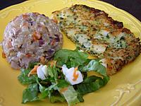 Image : Assiette d'omelette aux noix de Saint-Jacques