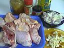 Ingrédients pour la recette : Poulet au gingembre et au soja au parfum de chine