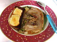 Recette Assiette de soupe au lard et topinambours