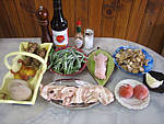 Ingrédients pour la recette : Soupe au lard et topinambours