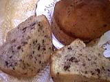 muffins : Muffin ouvert à la banane et au chocolat
