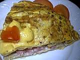 Image : Part d'omelette farcie au crabe