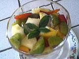 reine-claude : Coupe de salade de fruits au génépi