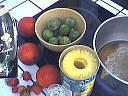 Ingrédients pour la recette : Salade de fruits au génépi