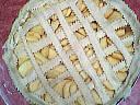 Rioler le dessus d'une tarte aux pommes
