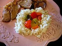 Image : Assiette de riz au poivron