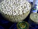 Ingrédients pour la recette : Stérilisation des haricots blancs