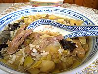 Recette Assiette de soupe d'agneau au riz façon chinoise