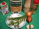 Ingrédients pour la recette : Purée de pois chiche