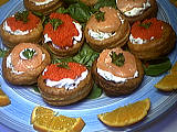 Vol-au-vent au saumon