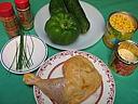 Ingrédients pour la recette : Potage aux poivrons et maïs